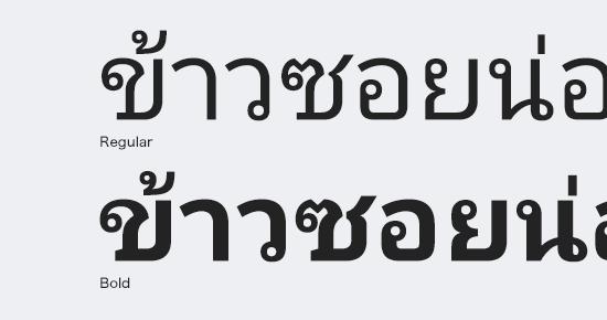 Noto Sans Thaiフォント