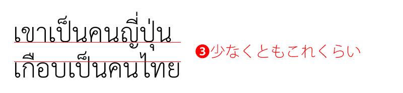 タイ語の行間を考える2