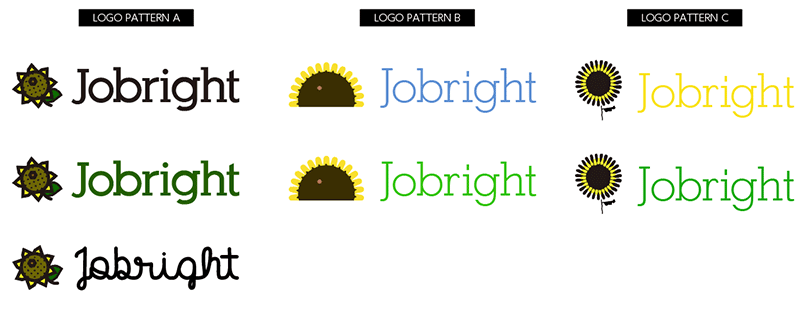 Jobrightロゴマーク最初の提案