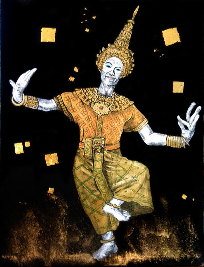 チェンマイに戻って描いた『タイ・ダンス』
