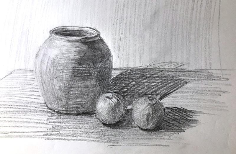 スケッチ陶器とマナオ